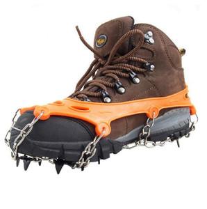 Montañismo crampones Calzado de tracción Grapas 11 Dientes de hielo de nieve Grips crampones para la Pesca Senderismo Escalada envío
