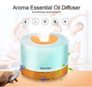 500ml umidificatore ad ultrasuoni ha portato venature del legno luce olio essenziale diffusore di aromaterapia creatore della foschia 24V Telecomando