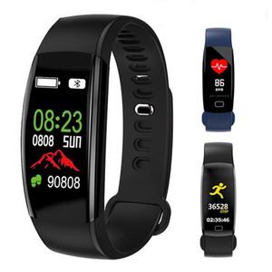 Smart Watch Herzfrequenz-Smart-Armband-Blutdruck-Blut-Sauerstoff-Pedometer Kalorie Burnt Entfernung Spur-Touch Uhren F64HR