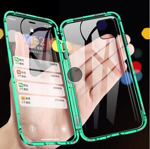 Pour iPhone 11 Pro Max Case magnétique Téléphone Case pour iPhone XS 6 6S 7 8 Plus doubles côtés en verre trempé Couverture