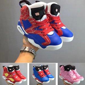 2020 Mid alta J6 6 Bambini scarpe da basket della ragazza del ragazzo giovani ragazzo sportivo dimensione della scarpa da tennis 28-35
