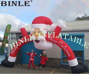 Arco inflable de la Navidad del arco de Papá Noel de la Navidad del día de fiesta de Xmax para la decoración al aire libre