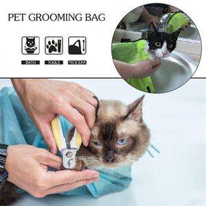 Multifunktionale Cat Grooming Bag Haustiere Bad Washing Taschen Mesh für Katzen Proof Biting Reiniger Nail Schneiden Dusche Supplies Scratch