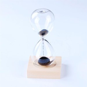 Ev Shop Office için 1PC Manyetik Kum saati Yaratıcı Kum Cam Masa süsleme Masaüstü Timer Doğum Günü Hediyeleri