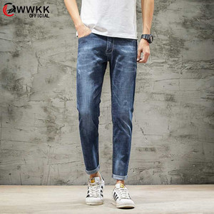 WWKK 2020 Men's Jeans Spring and Summer Skinny Jeans Straight Casual Slim Business Casual Elastic