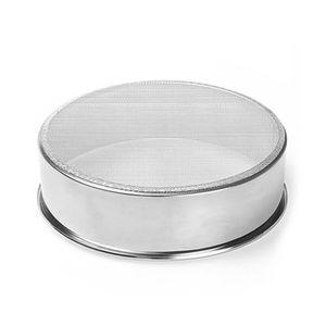 Round Flour Mesh Sifter Handheld ustensiles de cuisson Cuisine, salle à manger Bar Tamiser la farine Sieve en acier inoxydable Sifter pâtisserie sucre glace tamiseuse C