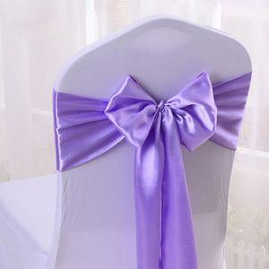 Cheap 100pcs / lot 16 * 275cm Wedding Party Decorative Satin Bow Tie Ribbon Chair Cover Sash Bands Hotel Banquet Chair Decor