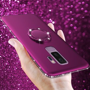 Ring Case For Samsung Galaxy J4 J6 A6 A8 S8 S9 Plus S7 Edge A3 A5 A7 J3 J5 J7 Cover Diamond Silicone Phone Cases