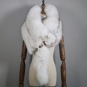 Luxus Echte Fuchspelz Schals Frauen Winter Echte Natürliche Ganze Fuchspelz Kragen Warme Weiche Mode Echte Echte Fuchspelz Schal