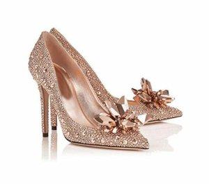 BlingBling Külkedisi kristal ayakkabı Rhinestones düğün ayakkabıları geline gümüş kırmızı altın rengi büyük boy özel yapmak gerçek bir fotoğraf