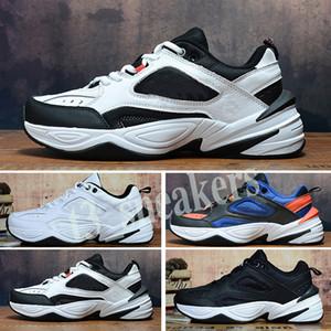Nike Air Monarch the M2K Tekno Kutu 36-45 T30 olmadan M2K Tekno Baba Erkek Spor Ayakkabı Phantom kadınlar Sneakers Unisex Siyah Volt Kadın Moda eğitmenler ayakkabı