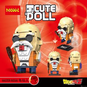 STOK DECOOL Sevimli Bebek İÇİNDE 6823-6834 18002 11151 Dragon Ball Mini tuğla süper kahramanlar hayret Avengers Yapı Bloğu rakamlar