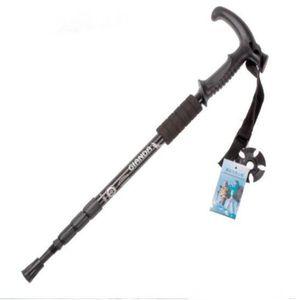 Adjustable Telescopic Aluminum Alloy Hiking Walking Stick Trekking Pole 3 Section Anti-shock Anti-skid Ultra-light Alpenstock Outdoor TP001