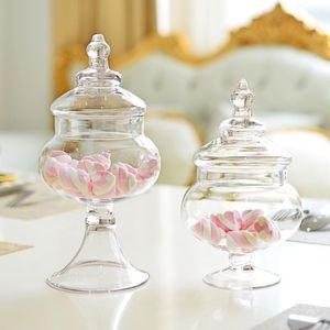 Handmade wedding candy jar christmas decoration home gift glass mason sugar jars glass container cookie MJ070416