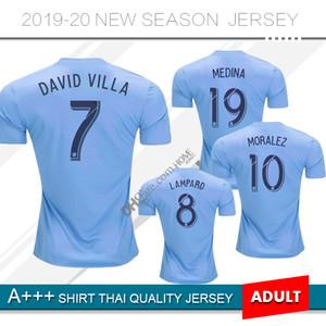 2019 New York City camisa de futebol em casa 19 20 MLS LAMPARD 8 PIRLO 21 MCNAMARA MORALEZ DAVID VILLA 7 camisas de futebol