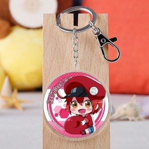COSANER Cells at work Fashion Anime Acrylic Key Chains Cartoon Keyring Keychain Pendant Keyholder Unisex Birthday Gifts
