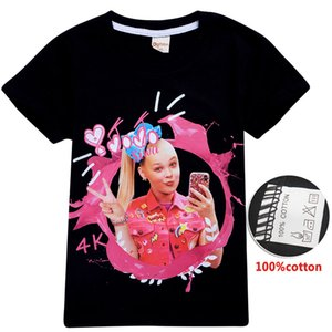 jojo siwa clothes Summer 4-12T Kids Girls T-shirts 100% Cotton Printed Short Sleeve Tees for kids 105-155cm Kids Designer Clothes SS399