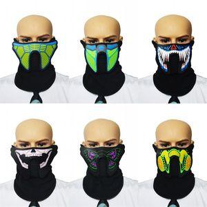 Masques de fête Contrôle de la voix Luminescence Face Cover Festival de musique Fêtes dansantes Divers Festivals Masque spécial Vente Chaude 25ha L1