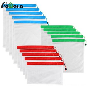 15pcs 12pcs Reusable Produce Washable Mesh Home Storage & Organization Housekeeping & Organization Bags for Grocery Shopping Fruit Vegetable