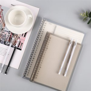 A5 spiral notebook Thickened loose leaf book detachable clasp extra thick grid horizontal line inner sheet metal iron clip ring