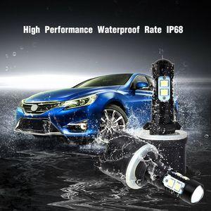 2 pcs 880 Plug 50W Car Fog Light 6000K GREE LED Projector Bulbs For Car Accessories