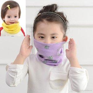 Anti Dust Baby Mask Cotton Neck Scarf Cartoon Children Collar Ring Scarves Kids Bibs Neckerchief 33 Colors