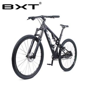 Kostenloser Versand 29er Mountainbike T800 Carbon-Fully MTB Fahrrad Radfahren 29in Carbon MTB Rahmen Axle Thru Gabel