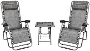 Jeu de 2 réglable Zero Gravity Recliner rembourré Lounge Patio Chaise Heavy Duty Parfait pour Recliner extérieur Backyard Patio Plage Piscine