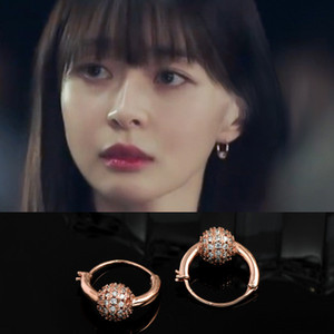 South Korean drama Li Tai Yuan Quan Nala same Earrings all over the sky star ball earrings exquisite trend