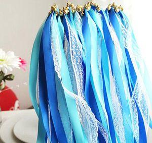 Spitzenband Streamer Hochzeit Sticks wünschen Zauberstäbe mit Glocken Partei Konfetti Requisiten liefert Dekoration Veranstaltungen Hochzeit favorisiert