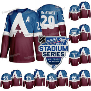 Les hommes du Colorado Avalanche 2020 Makar Cale Stadium Series Jersey Philipp Grubauer Samuel Girard Bellemare Matt Calvert J. T. Compher Kadri Nazem