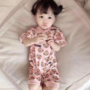 2 adet Yaz Yenidoğan Romper Bebek Erkek Bebek Kız Romper Jumpsuit Kıyafetler Seti Sunsuit Katı Renk Yeni Doğan Bebek Kız Giyim Jumpsuit