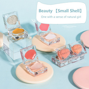 Natural Small Ice Cube Shell High Gloss Blush One Plate Mashed Potato Rouge Brightens Repairs Trimming Makeup Cosmestic
