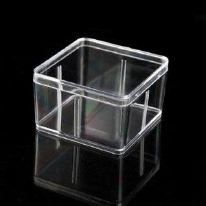 Praça Plastic Box 9.5 * 9,5 centímetros Para Acessórios pequeno PVC transparente caixas de embalagem com tampa Container - 000101pack