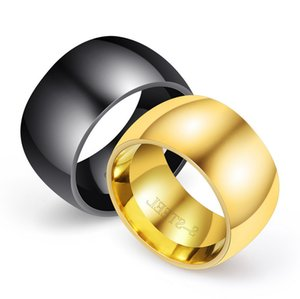 Band Rings Finger Ring Fashion Unisex High Quality Gold Plated Titanium Glaz Width Circle Stainless Steel Rings Jewelry