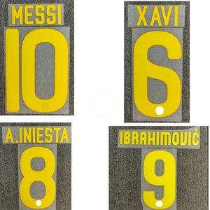 2011-2012 Ibrahimoic Nameset Xavi Messi A.Iniesta Printing Iron On Heat Transfer Patches
