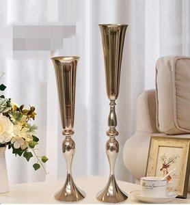 nuovo stile Oro mentale matrimonio Lampadario fiore floreale stand Candelabro, tavolo da sposa candelabri centrotavola tavolo best0897
