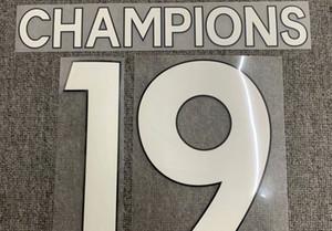2020 19 Champions Nameset Heat Transfer Soccer Patch Badge