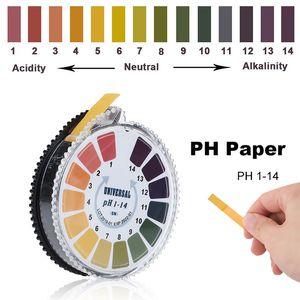 5m 1-14 PH ácido alcalino indicador de ácido Prueba de prueba Rollo de papel para la orina de agua Saliva Suelo Litmus Pruebas precisas Medición