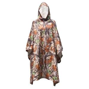 Impermeabile Camo Impermeabile impermeabile Il cappotto di pioggia Uomini Donne Raincoat Tenda dalla pioggia Moto Poncho