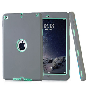 Defender shockproof Robot Case military Extreme Heavy Duty silicone cover for ipad pro 9.7 3 4 5 air 2 2017 2018 mini