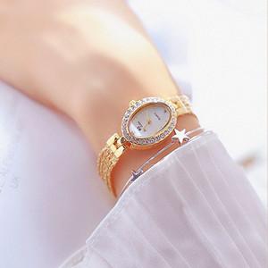 Aço inoxidável Bs Bee Irmã Mulher Relógios Vestido, Quadrado, Design Feminino Relógio de pulso Gold Clock Montre Femme 2020