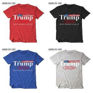 Homens Mulheres US Eleição T Shirt Top Tees Donald Trump 2020 Mantenha América Grandes letras impressas de manga curta T-shirt unisex Camisa Casual D22503