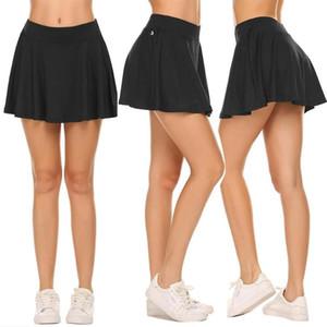 Femmes Séchage rapide remise en forme Jupe courte taille haute Golf Formation Sécurité Noir Marine Jupes badminton tennis de table Jupe pour dames