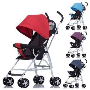 Super Light Mini Small Baby Stroller Folding Umbrella Baby Carriage Light Shock Absorber Portable Travel Car Foldable Pushchair