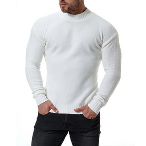 OLOME Men High Quality Warm Turtleneck Sweater Man Solid Knitted Sweaters Casual O-Neck Pullovers Male Half Collar Winter Tops