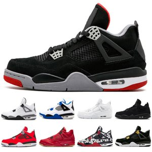 Bred White Cement 4 4s IV What The Cactus Jack Cool Grey Mens Basketball Shoes Denim Blue Womens Retro Sports Shoes Size 36-47