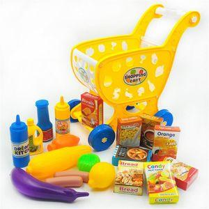Kinder Simulation Einkaufswagen Spiel-Haus-Spielzeug Supermarkt Simulation Trolley-Shop Trolley Hilft Intellektuelle Entwicklung