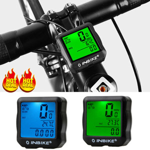 Su geçirmez Kablolu Kablosuz Bisiklet Bisiklet Bilgisayar LCD Bisiklet Kilometre Kilometre sayacı
