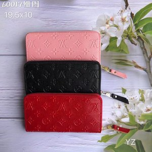 Fashion designer credit card holder high quality classic leather purse folded notes and receipts bag wallet purse distribution